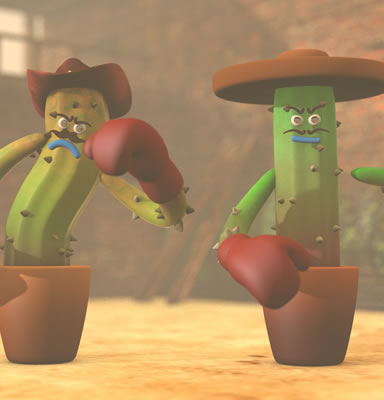 Curso de Cinema 4D - Modelando e Animando Cactus Boxer Cartoon