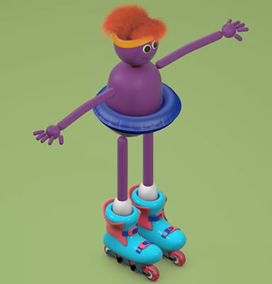 Curso de Cinema 4D - Modelando Roller Man Cartoon